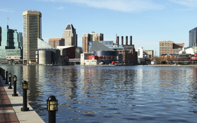 baltimore cityscape panorama