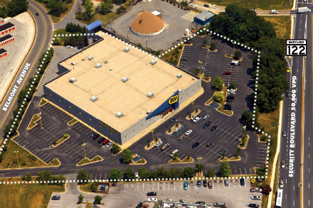 1701 Belmont Ave Best Buy building top view