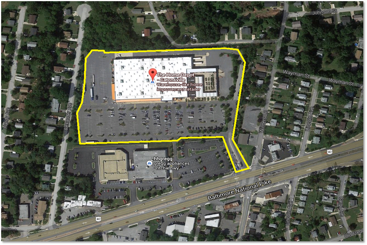 6000 Baltimore National Pike Home Depot building site plan