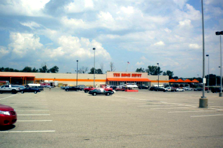 1227 Michigan Home Depot building and parking front