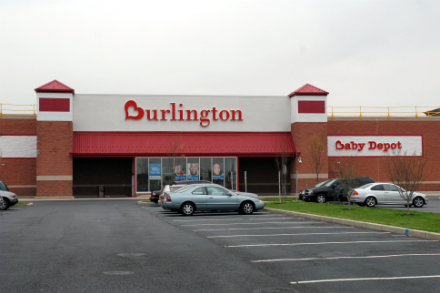 Garden State Pavillions Burlington Coat Factory building and parking front